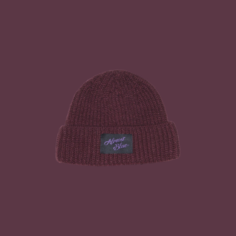 [손거울 증정] ALMOST BLUE SHORT BEANIE - WINE